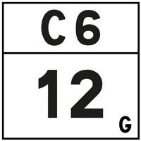 Plaquette de repérage hectométrique E54c