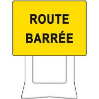 Panneau de chantier KC1 route barrée