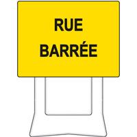 Panneau de chantier KC1 rue barrée