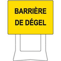 Panneau de chantier KC1 barrière de dégel