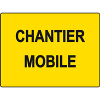 Panneau de chantier KC1 sans pied chantier mobile