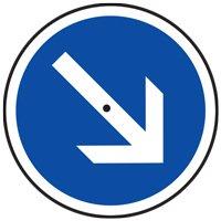 Panneau temporaire B21 flèche orientable