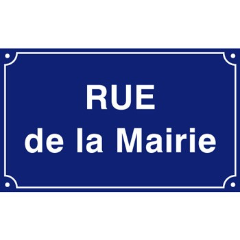 Plaque de rue 500 x 300 aluminium listel simple
