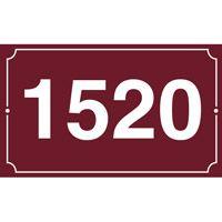 Numéro de maison en émail 250 x 150 mm 1 filet