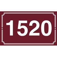 Numéro de maison en émail 250 x 150 mm 2 filets