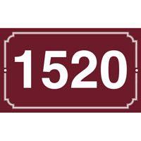 Numéro de maison en émail 250 x 150 mm 3 filets