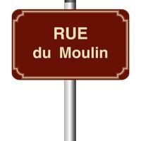 Panneau de rue émail 450 x 250 - 3 listels - arrondi