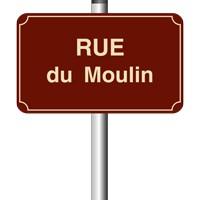Panneau de rue émail 450 x 250 - 1 listel - arrondi