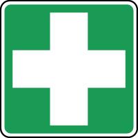 Panneau de premiers secours