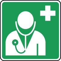 Panneau de premiers secours urgence médecin