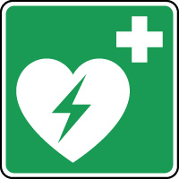 Panneau secours défibrillateur cardiaque automatique