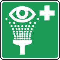 Panneau de premiers secours équipement de rincage des yeux