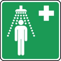 Panneau de premiers secours douche de sécurité