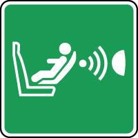 Panneau secours système détection siège enfant