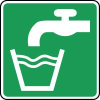 Panneau de premiers secours eau potable