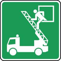 Panneau d'évacuation carré fenêtre de secours