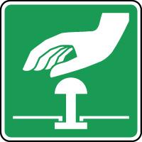 Panneau d'évacuation bouton d'arrêt urgence
