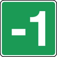 Panneau d'évacuation étage niveau -1