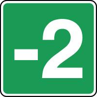 Panneau d'évacuation étage niveau -2