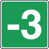 Panneau d'évacuation étage niveau - 3