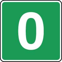 Panneau d'évacuation étage niveau 0