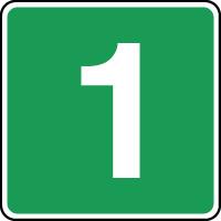 Panneau d'évacuation étage niveau 1