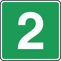 Panneau d'évacuation étage niveau 2