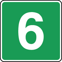 Panneau d'évacuation étage niveau 6