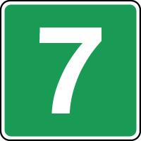 Panneau d'évacuation étage niveau 7