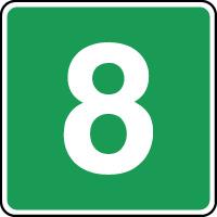 Panneau d'évacuation étage niveau 8