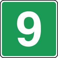 Panneau d'évacuation étage niveau 9