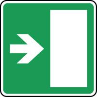 Panneau d'évacuation issue secours flèche à droite