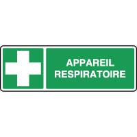 Panneau de secours horizontal appareil respiratoire