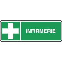 Panneau de premiers secours horizontal infirmerie