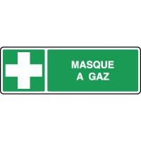 Panneau de secours horizontal masque à gaz