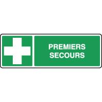 Panneau de premiers secours horizontal