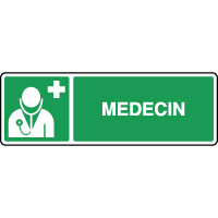 Panneau de premiers secours horizontal médecin