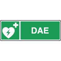 Panneau premiers secours horizontal DAE