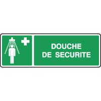 Panneau de premiers secours horizontal douche de sécurité