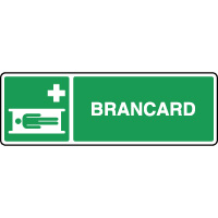 Panneau de premiers secours horizontal brancard