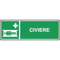 Panneau de premiers secours horizontal civière