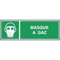 Panneau de premiers secours horizontal masque à gaz
