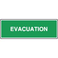 Panneau horizontal évacuation