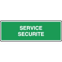 Panneau d'évacuation service de sécurité