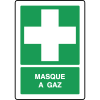 Panneau de secours vertical masque à gaz