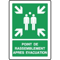 Panneau vertical rassemblement après évacuation