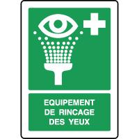 Panneau de secours vertical équipement rincage des yeux