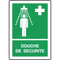 Panneau de premiers secours vertical douche de sécurité