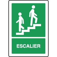 Panneau d'évacuation vertical escalier