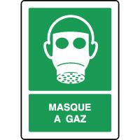 Panneau de premiers secours vertical masque à gaz